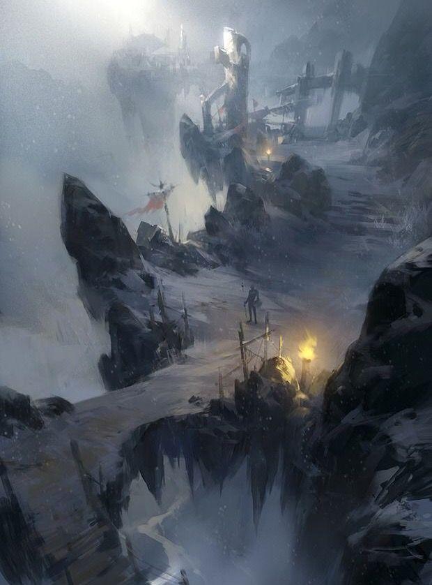 Guardian Fantasy Landscape Environment Concept Art Fantasy Artwork