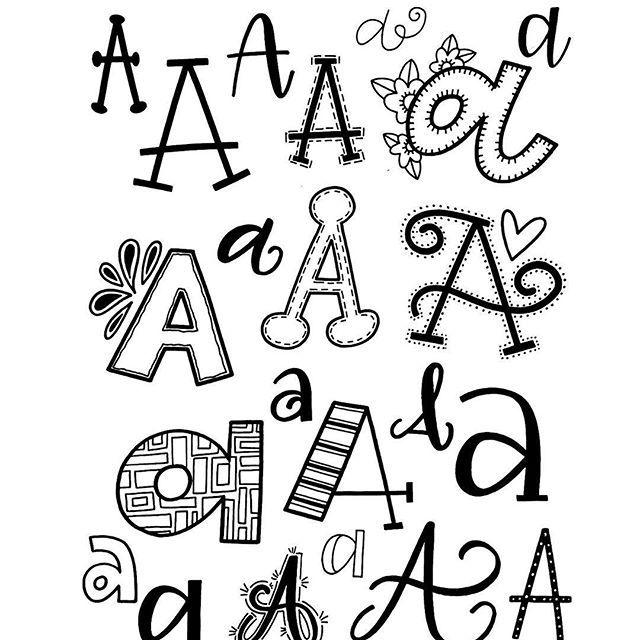 letter a font alphabet | Journaling | Hand lettering fonts