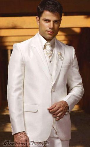 White wedding suit for men | Fashion Belief | Wedding in 2018 ...