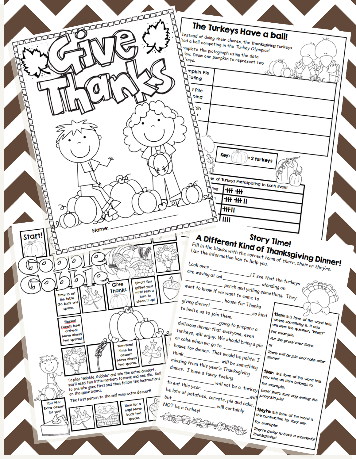 Thanksgiving Booklet From My Tpt Store