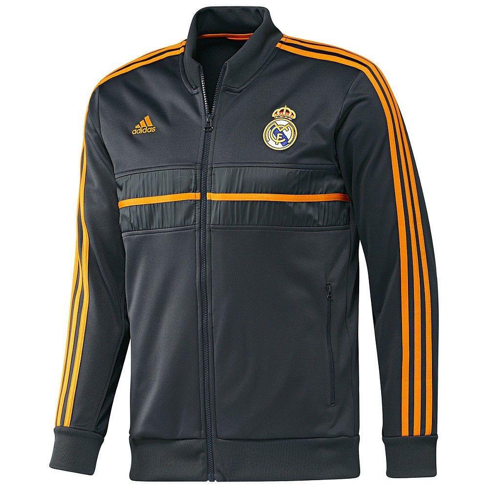 adidas Real Madrid 2013 2014 SOCCER Track Jacket Black