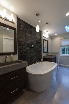 One Of My Favorite Bathroom Layouts A Freestanding Tub Between