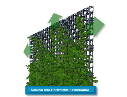 Vertical Green Modular Expandable Attaches To Support Structure