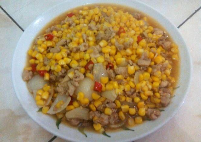 Resep Jagung Manis Cah Ayam Fillet Oleh Nini S Kitchen Resep Masakan Resep Jagung