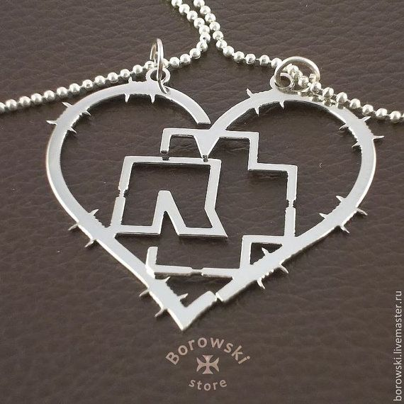 Heart Rammstein pendant for two free shipping  от BorowskiStore