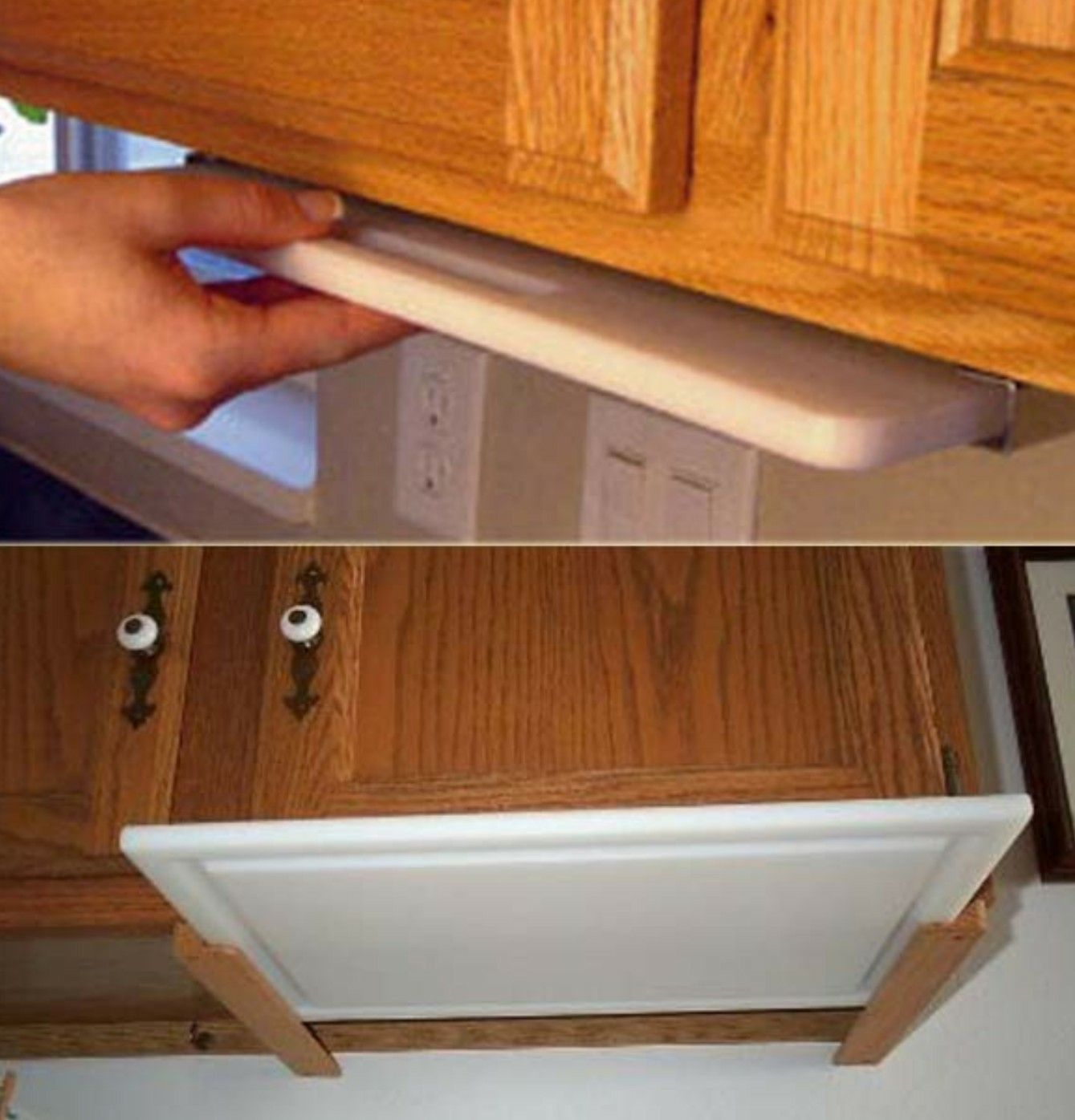 Cutting Kitchen Cabinets: Under The Cabinet Cutting Board