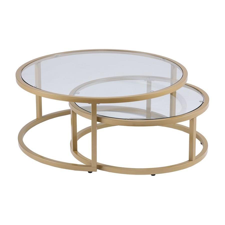 Boston Loft Furnishings Ester Glass Glass Coffee Table Lowes Com Nesting Coffee Tables Gold Nesting Coffee Table Coffee Table [ 900 x 900 Pixel ]