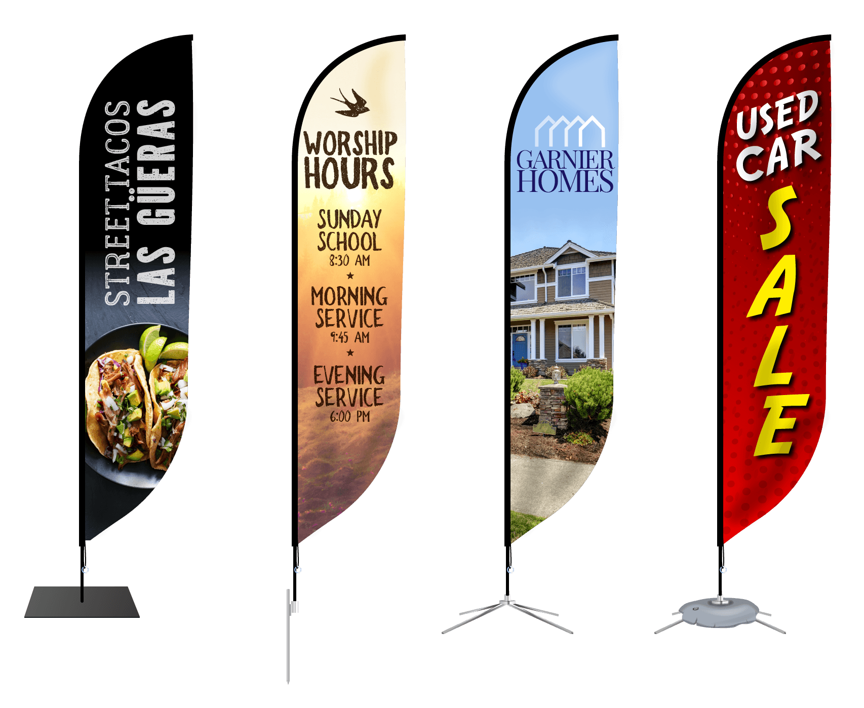 Custom Feather Flag Banners Signs Com Feather Flags Promotional Banners Custom Feather Flags