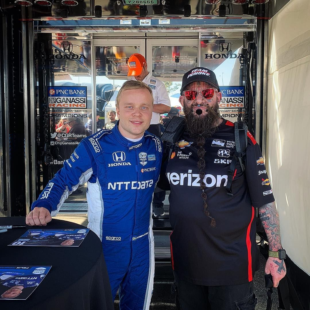 Me & Felix Rosenqvist At Acura Grand Prix Of Long Beach