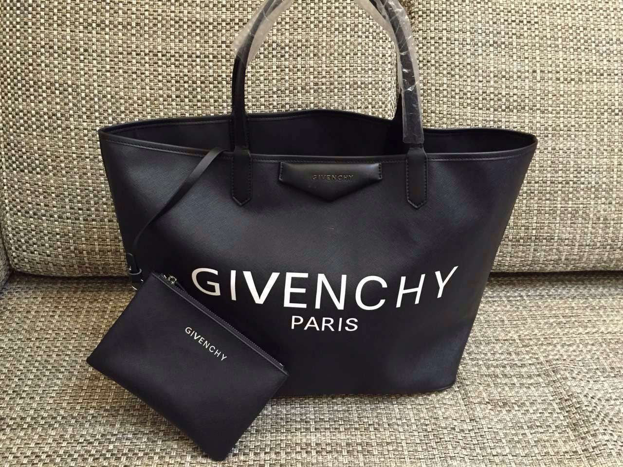 S S 2016 Givenchy Collection Outlet-Givenchy  Antigona  Givenchy Large  Slogan Print Shopping Tote f30a5d6980