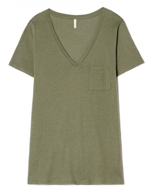 brand new af689 6f17a T-shirt con taschino Verde Scuro - Donna | Benetton | Storie ...