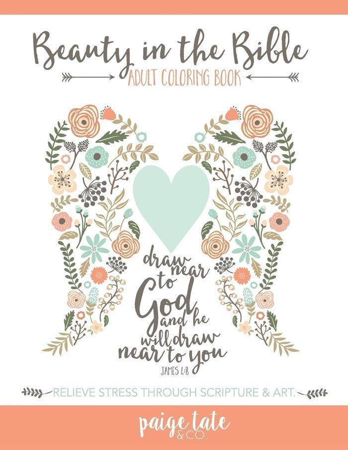 Adult Coloring Books Beauty in the Bible Paperback Relieve Stress 56 Pages
