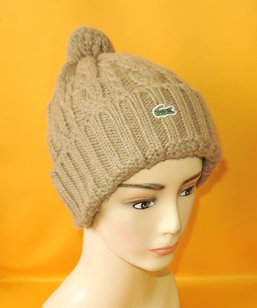 a173ceb18fcd8c Lacoste Beanie Ski Hat Vintage Diamond Shape Knit Olive Color Signature Logo  Designer Wool Polyester Winter Snow Cap by InPersona on Etsy