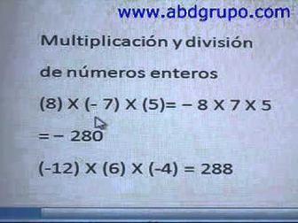 Operaciones Con Números Enteros Suma Resta Multiplicación Y División Math Wish Personalized Items