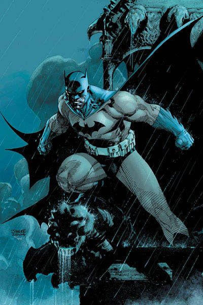 Batman by Jim Lee in Hush. This book is fantastic. I recommend it all over the place!