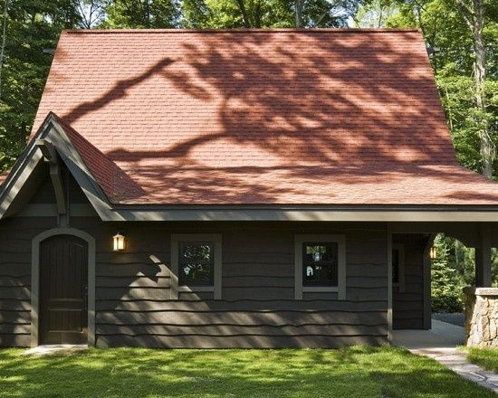 Cabin Exterior Color Schemes Exterior Red Roof