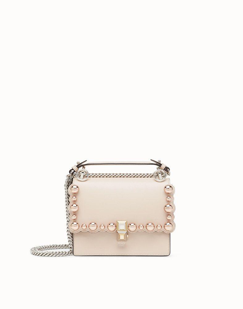529f5aea19 FENDI KAN I SMALL - Pink leather mini-bag - view 1 detail