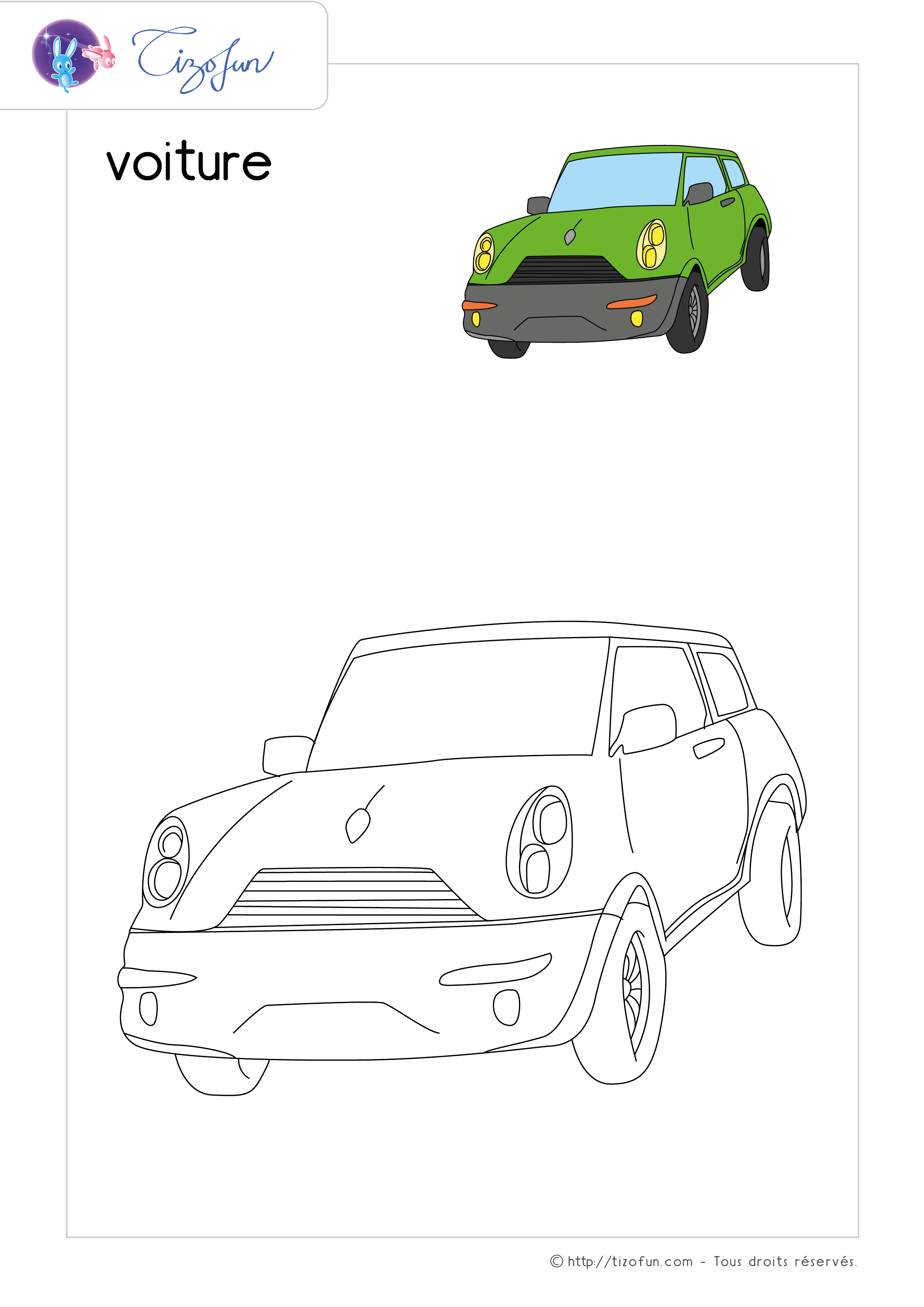 Coloriage Transport Dessin Voiture Jeu Pinterest Handmade