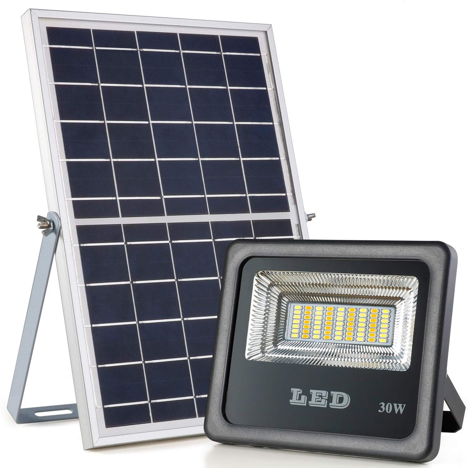 Awanber Solar Powered Flood Lights With Rf Remote Control 1000 Lumens Dusk To Dawn Ip66 Waterproof Solar Powered Flood Lights Flood Lights Solar Flood Lights Solar powered flood light dusk to dawn