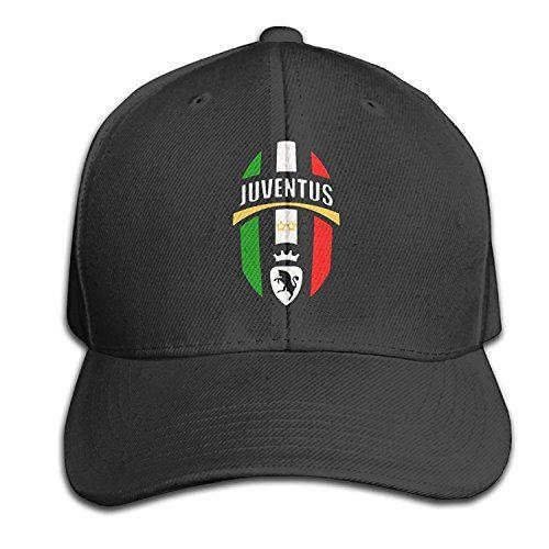 d0189cc81da Juventus Logo Men and Women Hip Hop Black Adjustable Cotton Hat Fashion Cap