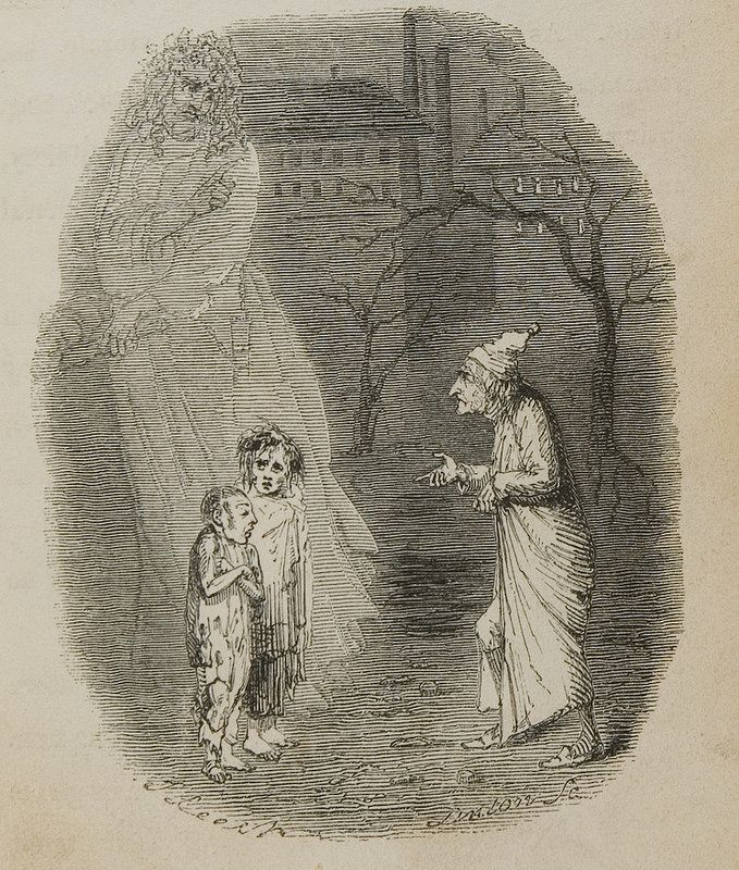 Charles Dickens: A Christmas Carol (SpColl918): 'Ignorance' and 'Want', p119wf | Christmas carol ...