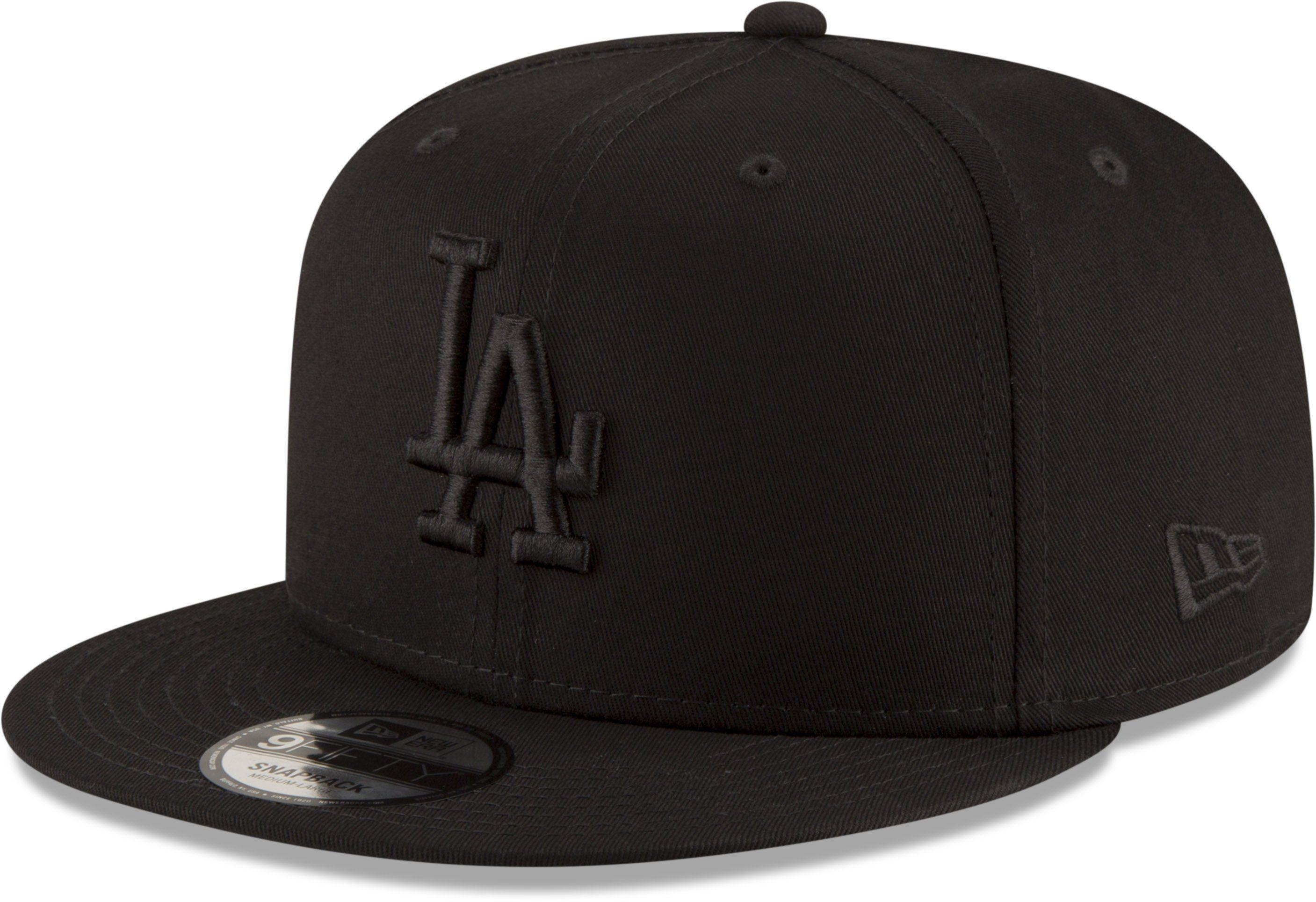 LA Dodgers New Era 950 League Essential Black Snapback Baseball Cap –  lovemycap a6ac8d733a0a