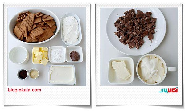 مواد اولیه چیزکیک شکلاتی Food Cheesecake Breakfast