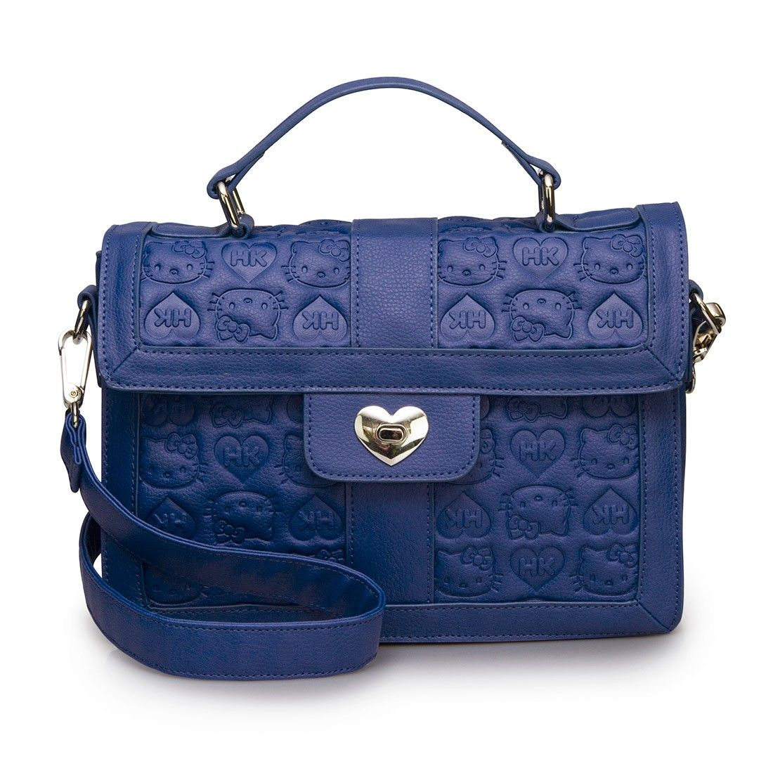afbcb0773 Hello Kitty Blue Embossed Satchel With Heart Lock - Bags - Whats New ...