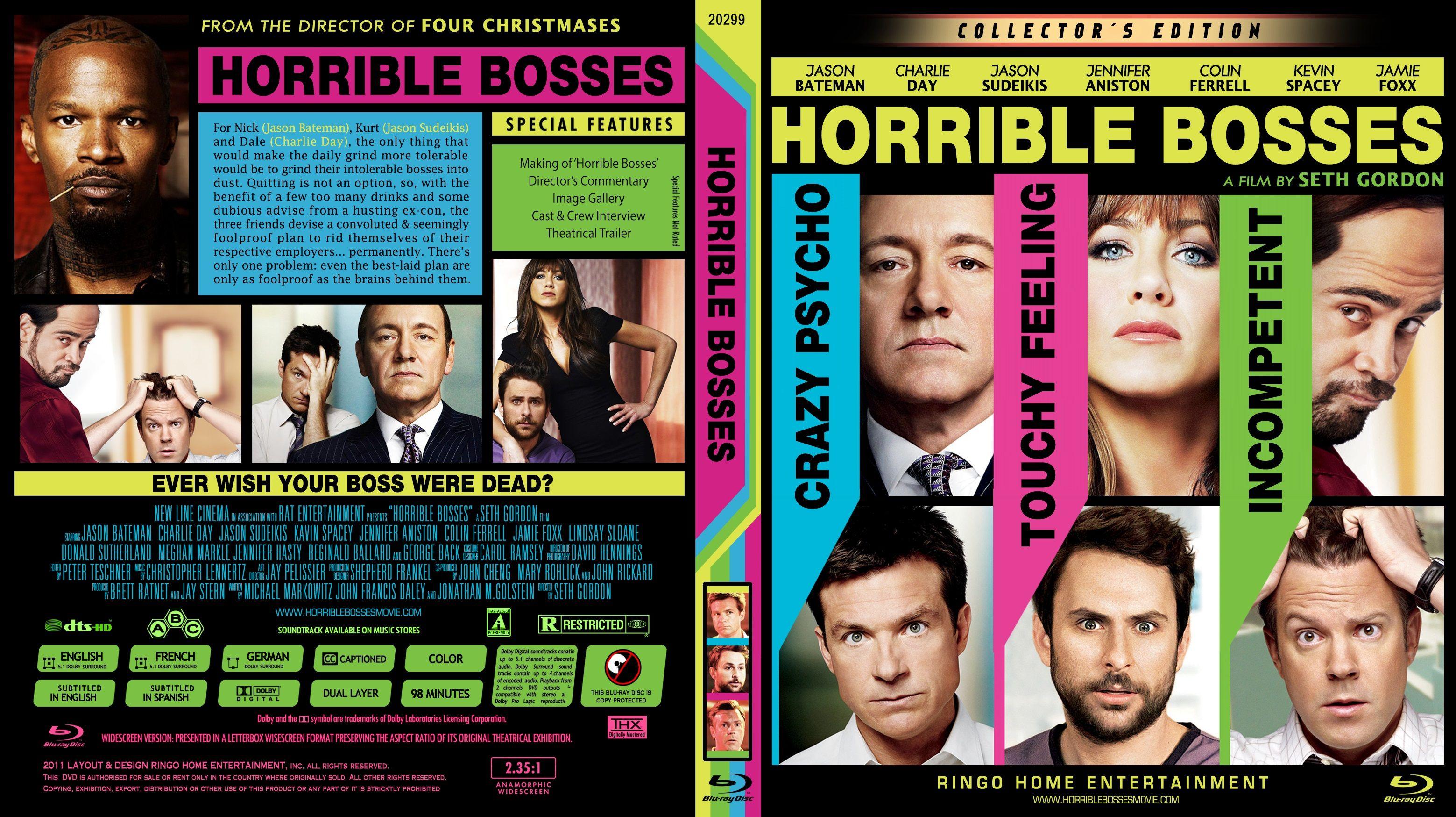 Horrible Bosses High Quality Dvd Blueray Movie Horrible Bosses Custom Dvd Dvd Covers