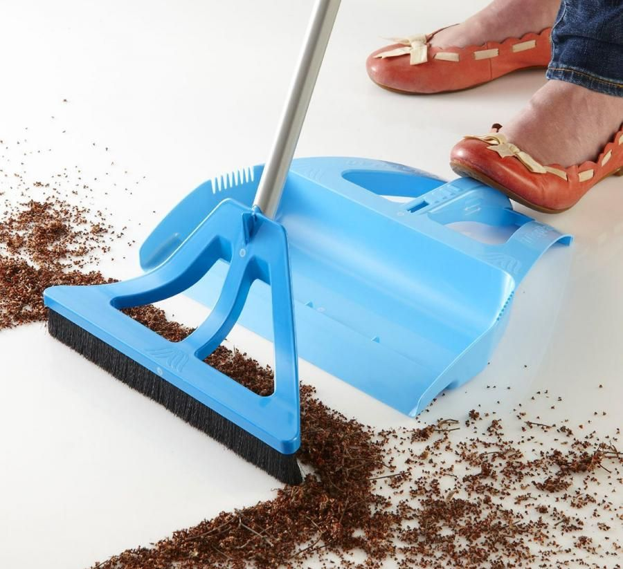 Wisp Lets You Sweep And Use Dustpan With One Hand All While Standing Up Broom And Dustpan Dust Pan Modern Cleaning Tools