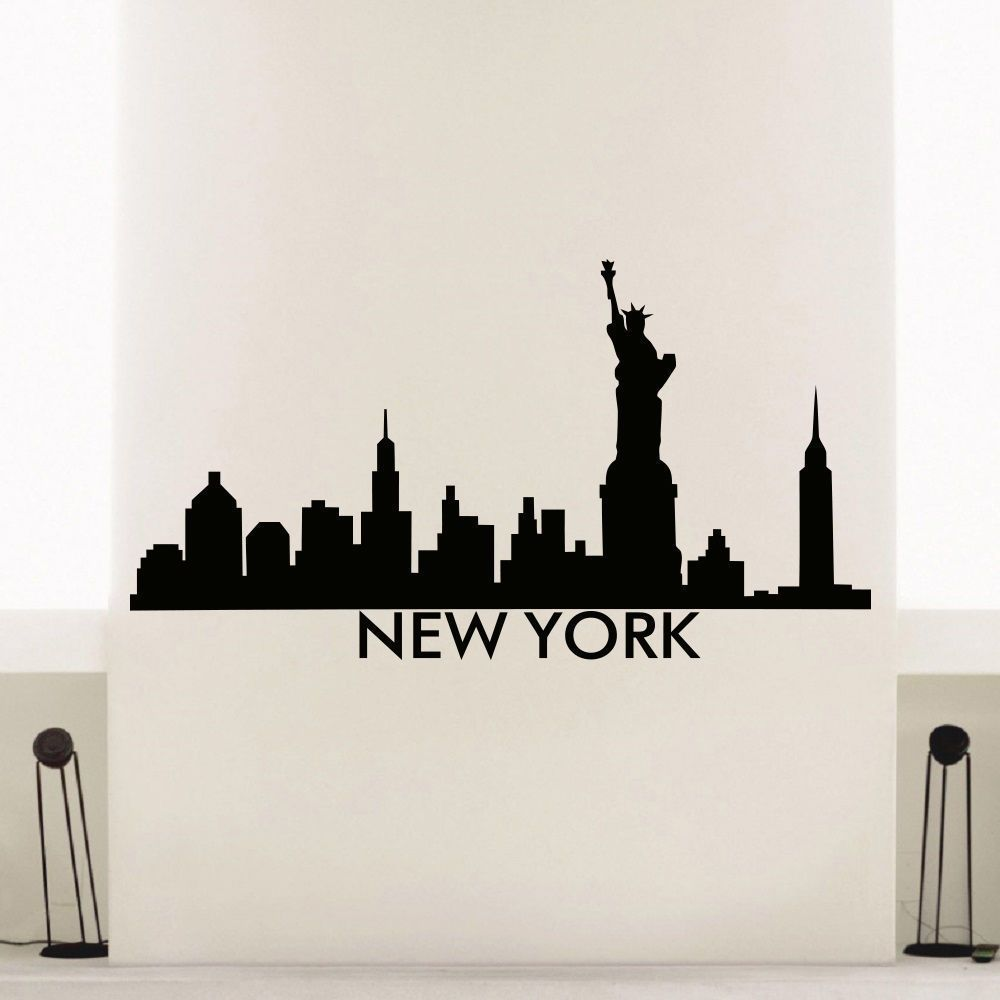 New York Skyline City Silhouette Vinyl Wall Art Decal Sticker Art