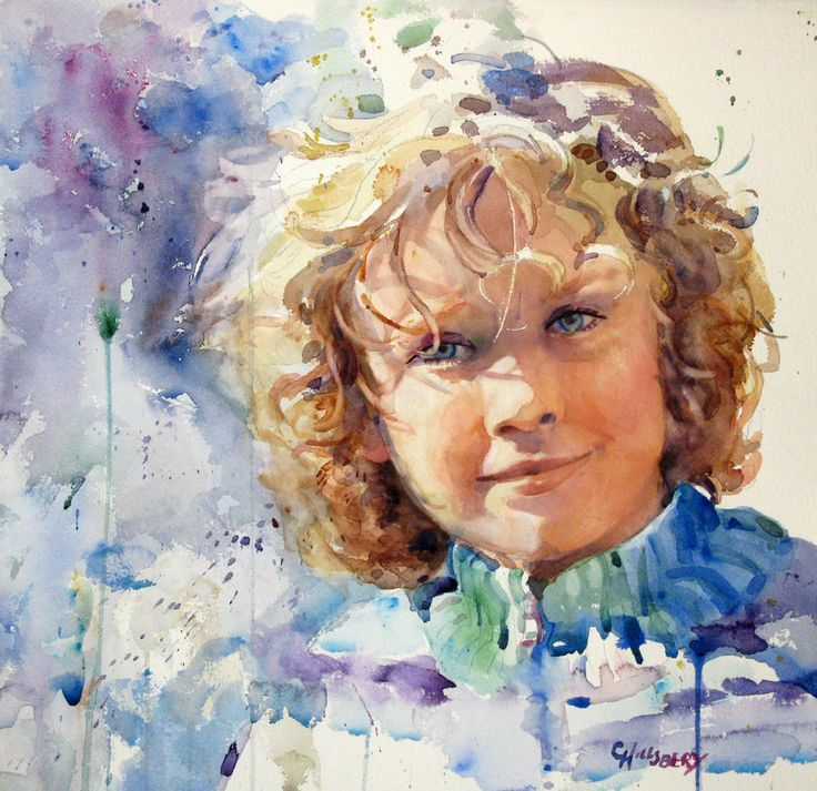 Kim Johnson Watercolors Google Search Portrait Enfant
