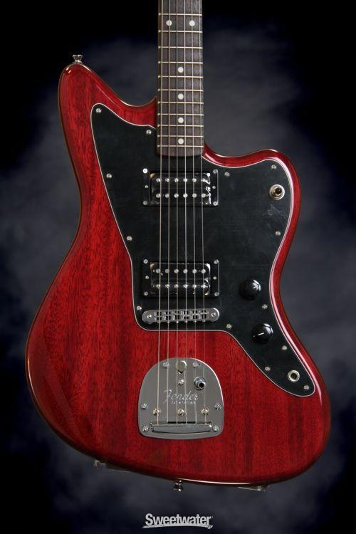 fender modern player jazzmaster hh crimson red transparent gear geek guitar guitar for. Black Bedroom Furniture Sets. Home Design Ideas