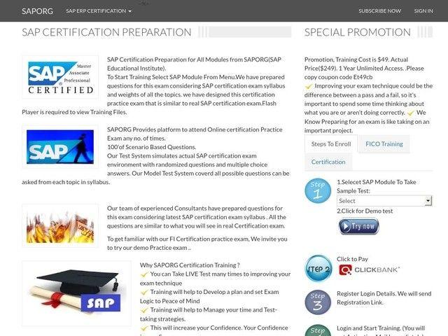 Sap Certification Preparation, Certification Test,questions   Latest ...