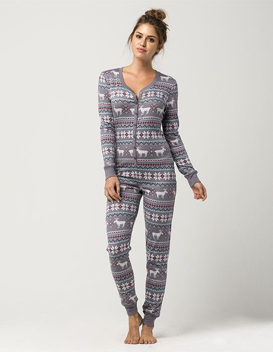 Cosmic Love Fair Isle moose knit PJ onesie. Holidays were made for ...