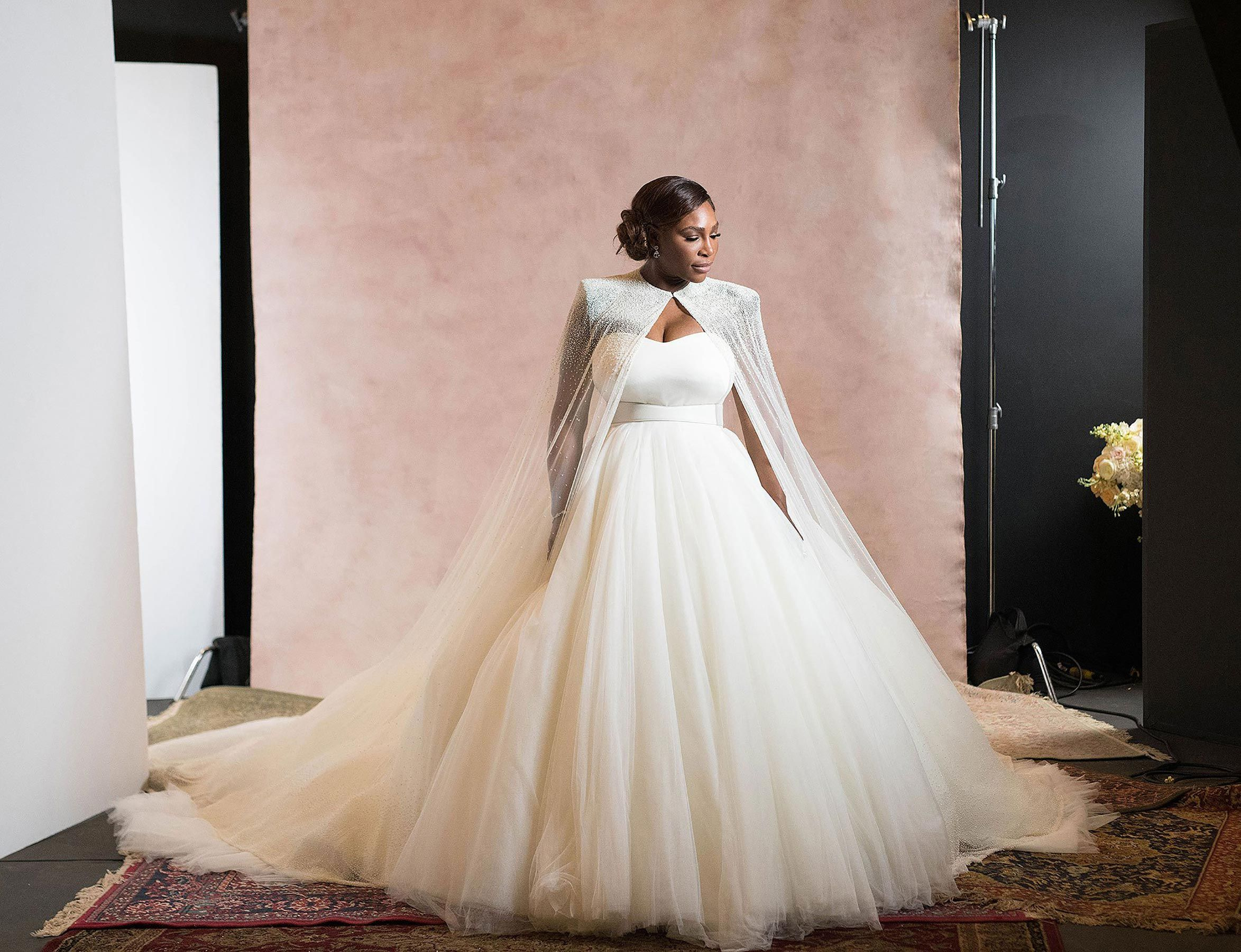 17cc42a251c5 Serena Williams' wedding dress photos are here! Get all the details ...