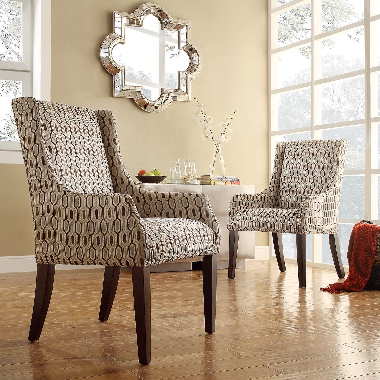 INSPIRE Q Jourdan Mocha Honeycomb Sloped Arm Hostess Chair by iNSPIRE Q