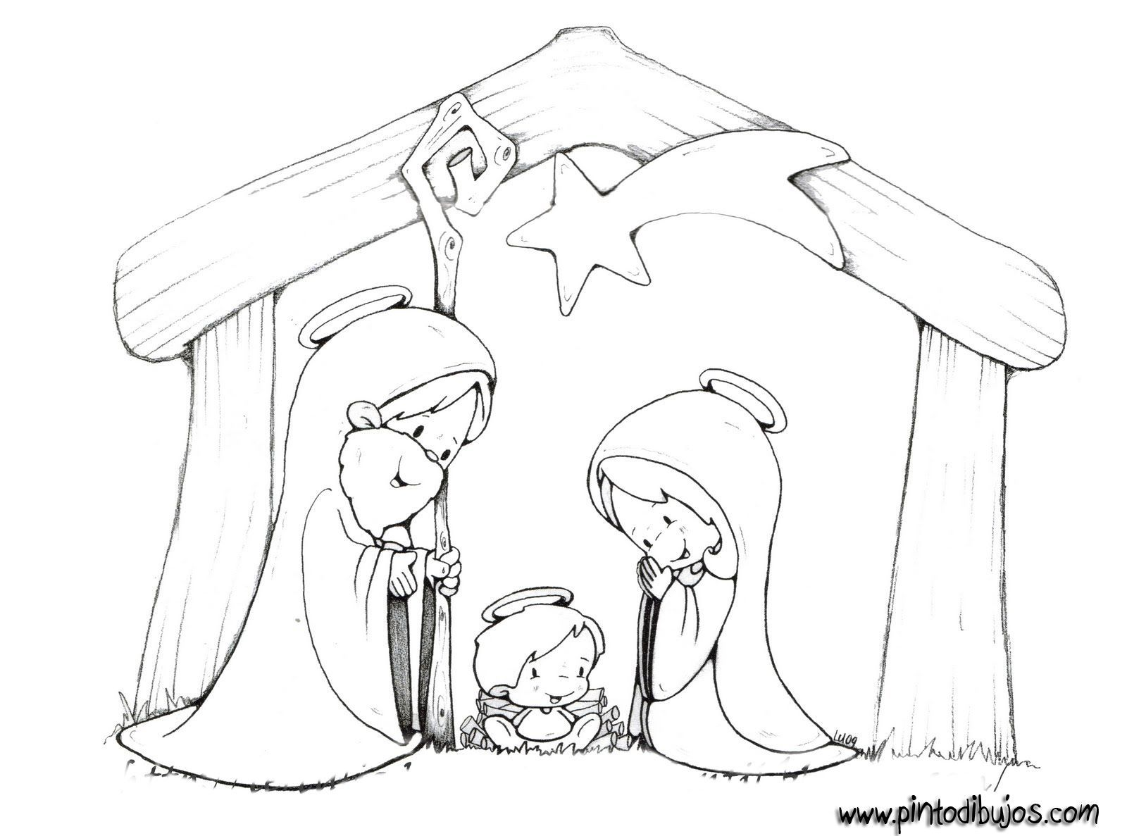 Colouring sheets nativity scene -  Nativity Scene Coloring 18 Lot More Coloring Pages On Web Site