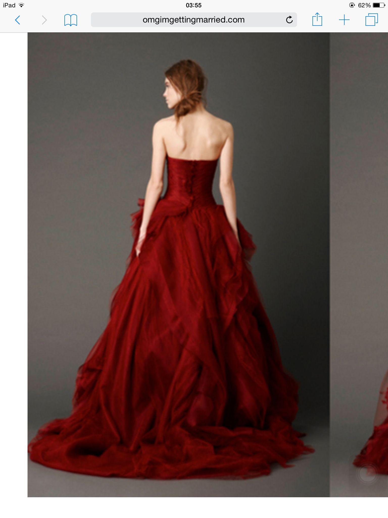 Red wedding dresses vera wang  Vera wang Kendall red  WEDDING