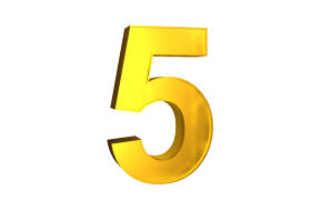 Five 5 3d Numbers Gold Png Image With Transparent Background Png Free Png Images Transparent Background Gold Clipart Gold