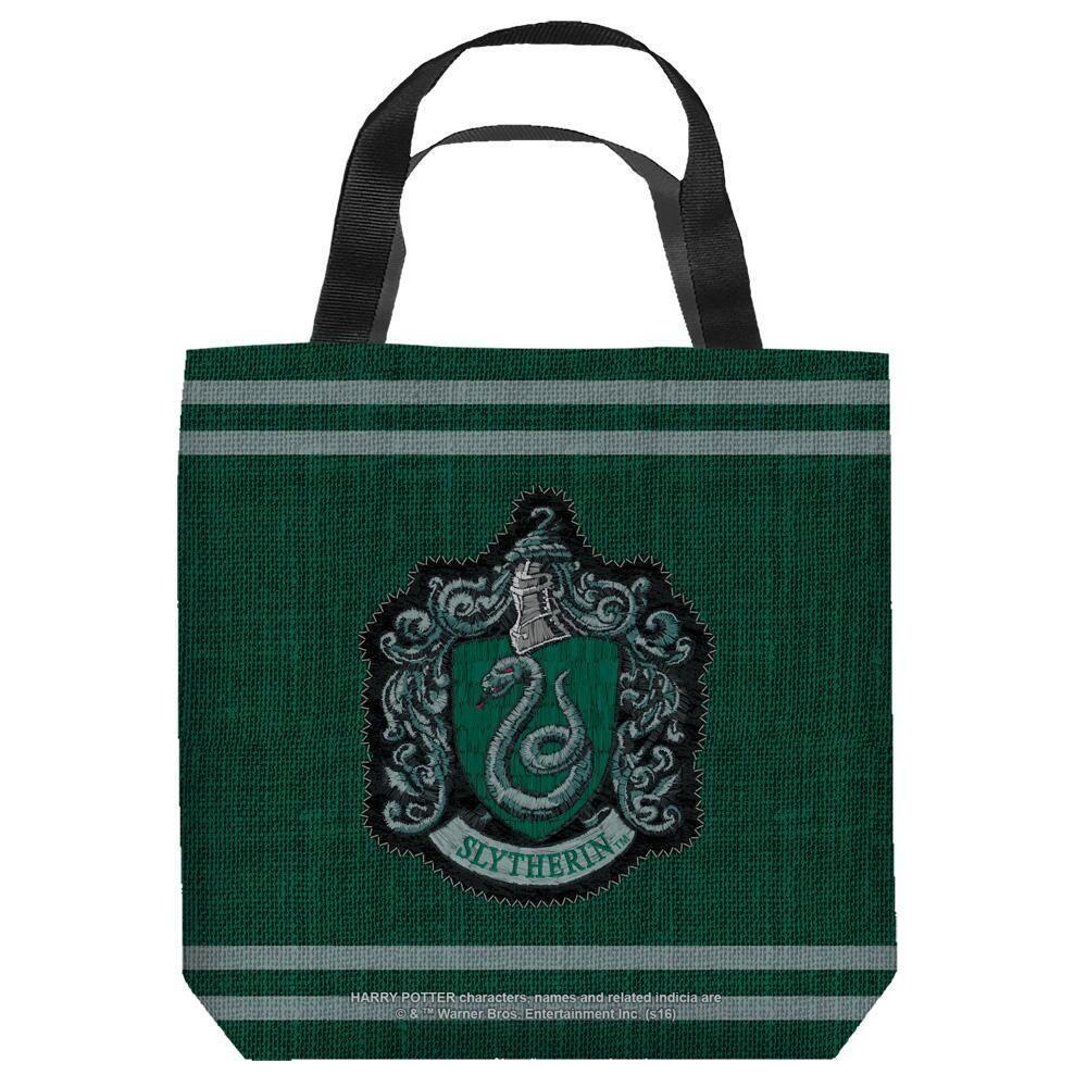 Slytherin Stitch Crest Sided Tote Bag | Harry Potter Shop