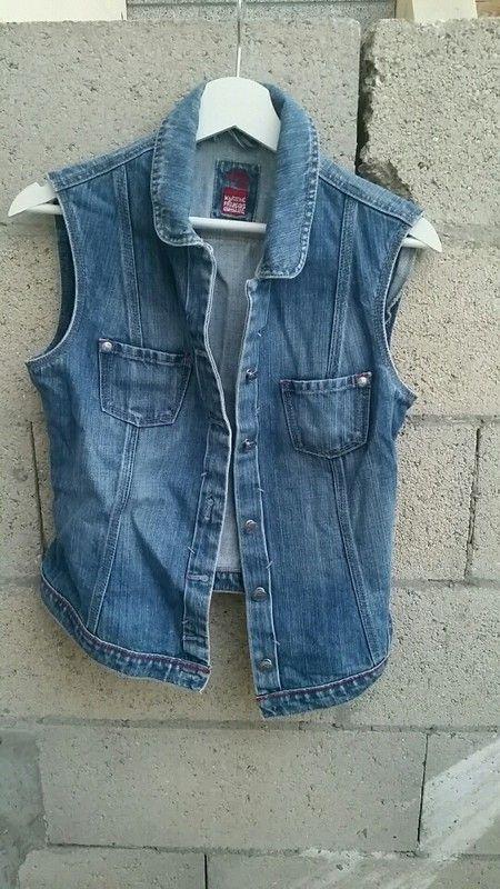 28e5da99586d2 Veste en jeans sans manches Marithé François Girbaud | a vendre sur ...