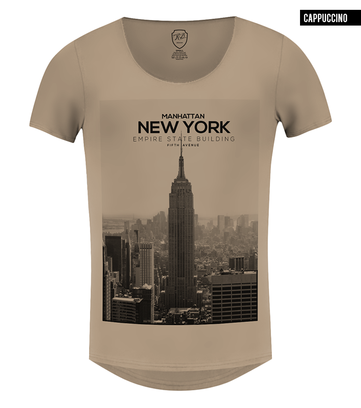 96e6f08c7f7a Men's T-shirt New York Manhattan Fifth Avenue Graphic Tee / color option /  MD258 beige new york scoop neck t-shirt