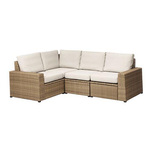 Divani In Rattan Ikea.Solleron Modular Corner Sofa 3 Seat Outdoor Brown Froson