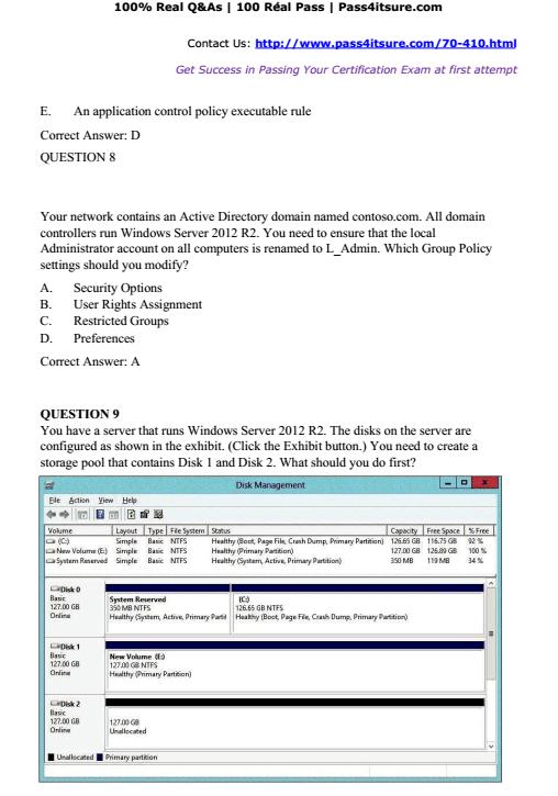 Microsoft 70 410 Dumps Study Guide Latest Updated Microsoft 70 410
