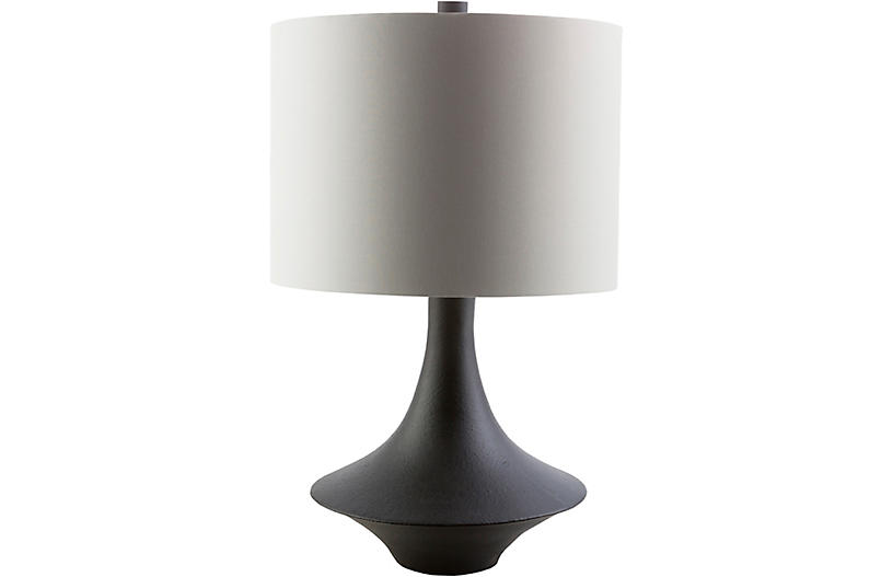 Bennett Table Lamp Black Plaster One Kings Lane In 2021 Black Table Lamps Table Lamp Lamp