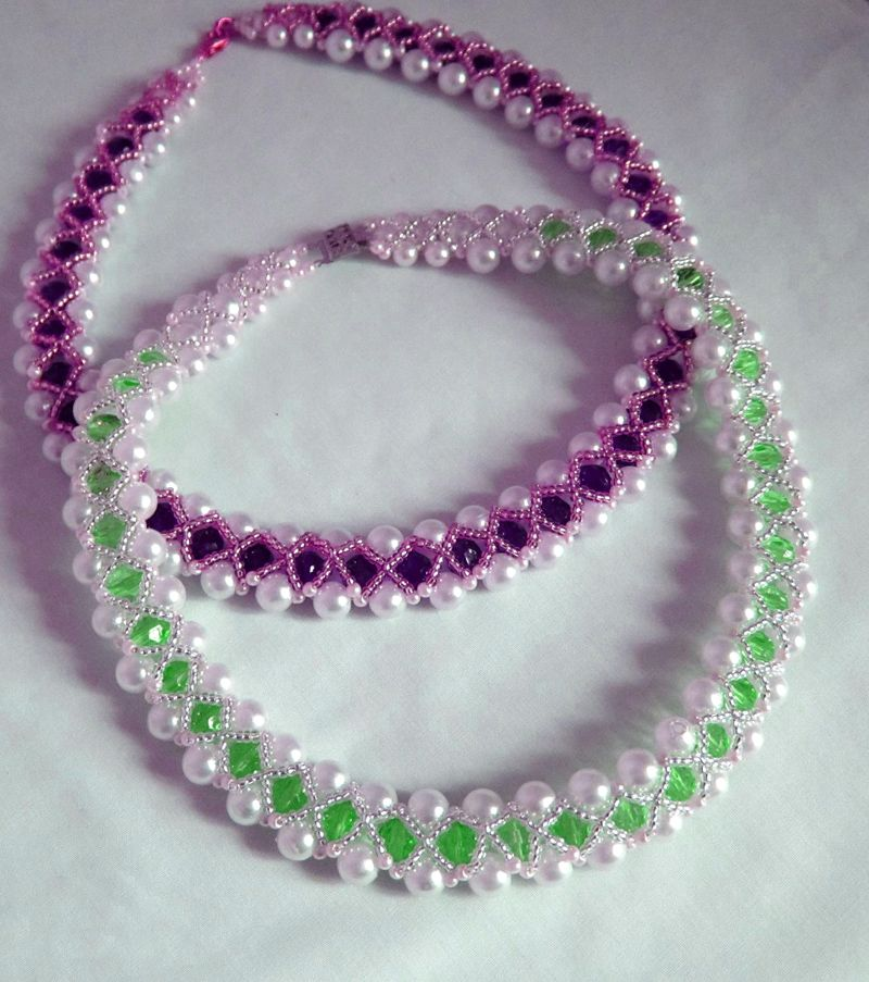 Free Pattern For Beaded Necklace Remembrance. This Pattern Is Easy But  Looking Awesome And Good