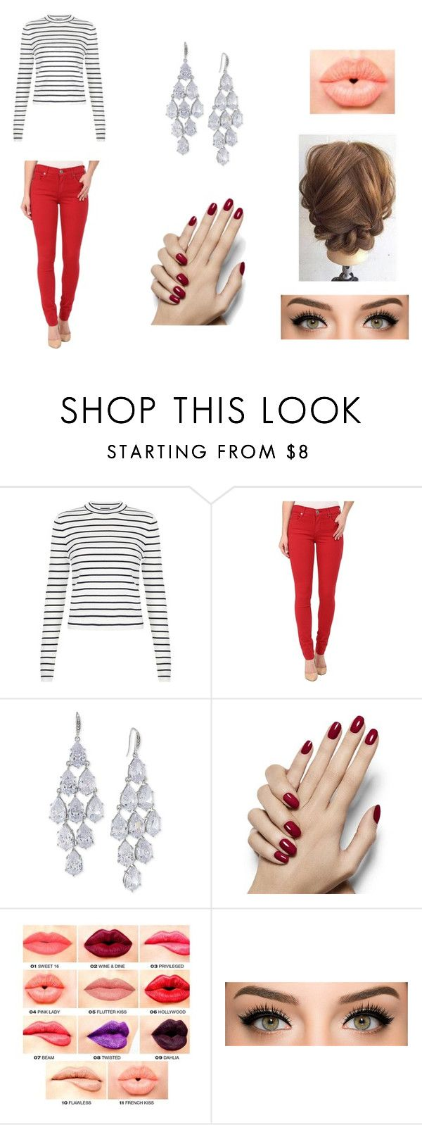 """#CasualFriday"" by laramie8142001 ❤ liked on Polyvore featuring True Religion, Carolee, NYX, women's clothing, women, female, woman, misses and juniors"