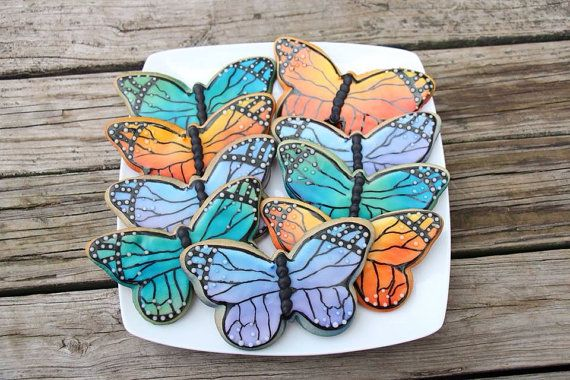 Butterfly cookies on Etsy, $42.00