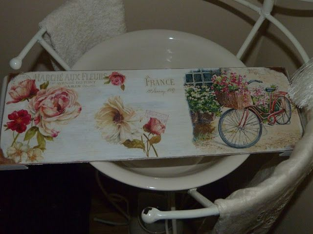 Cuadros vintage, realizados sobre tabla simulando tríptico y papel ...